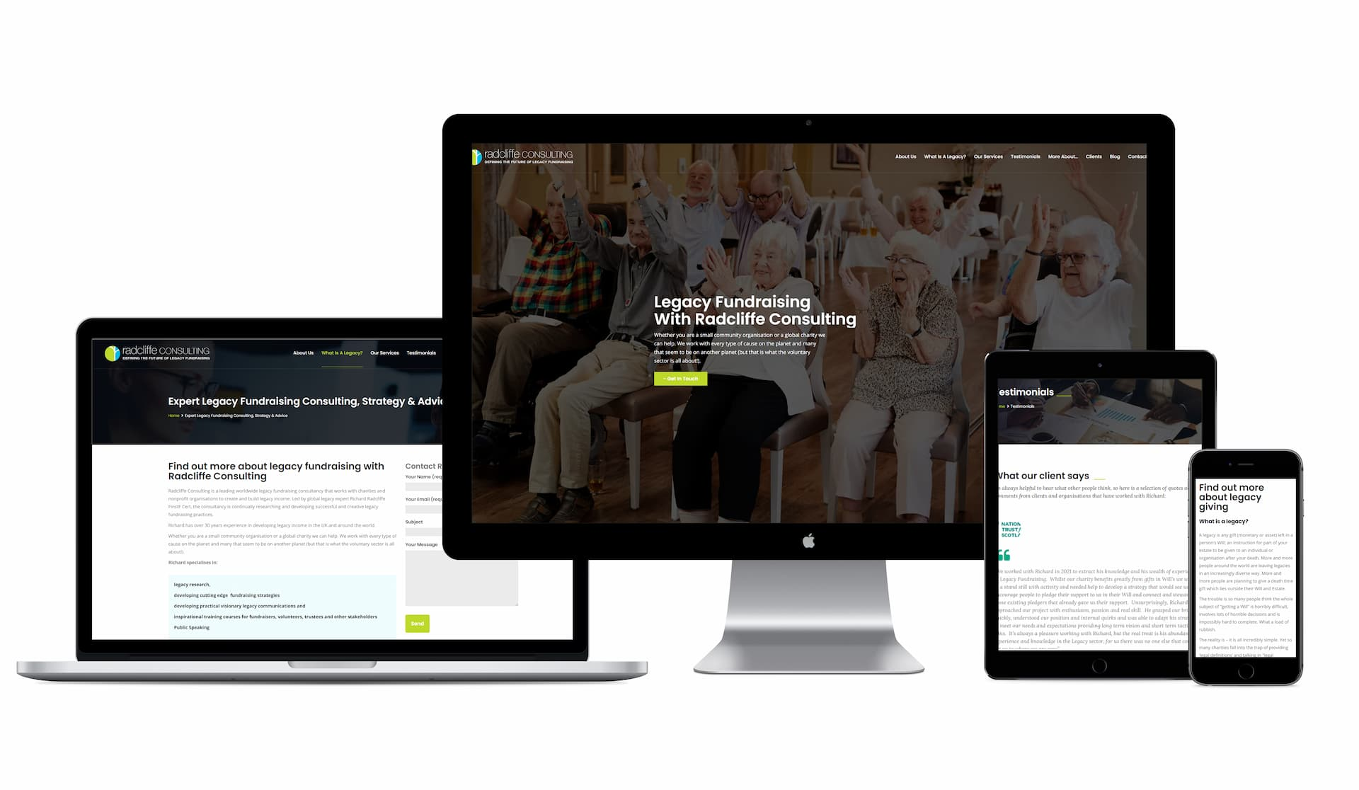 Radcliffe Consulting Website Development
